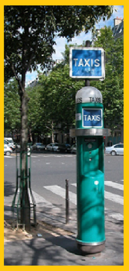 Picture of  taxi stop sign in paris